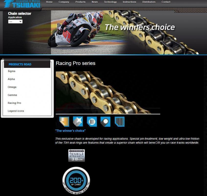 Tsubaki Racing Pro(chain)520